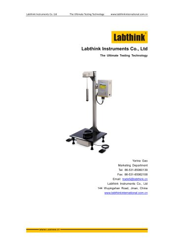 Labthink Impact Resistance Tester of Plastic Packaging Materials CE Certified