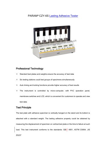 Labthink Lasting Adhesive Tester CZY-6S for adhesive labels