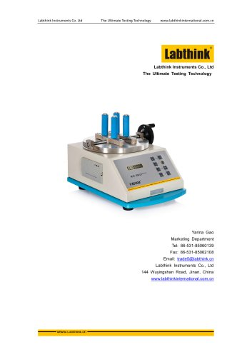 Labthink Manual Torque Testing Equipment for measurement of torque retention of packages