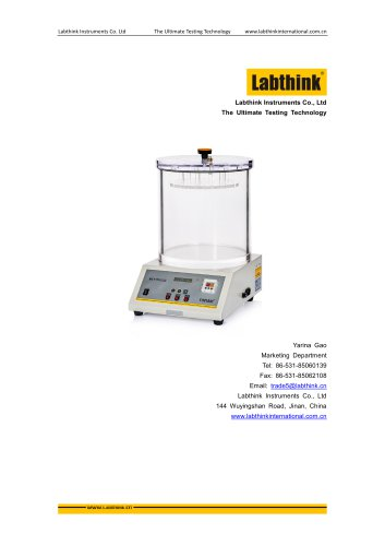 Labthink MFY-01 Leak Tester can measure hermeticity test for package