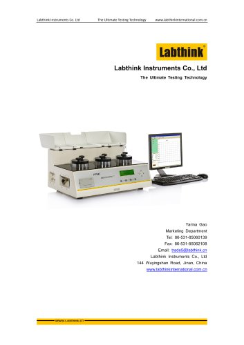 Labthink Oxygen Permeation Test Equipment to measure oxygen transmission rate (OTR) of PET film and Laminates