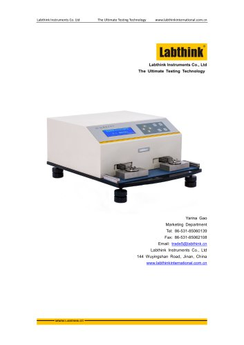 Labthink RT-01 Rub Abrasion Resistance Tester for Printing and Labels on Cosmetics Packaging