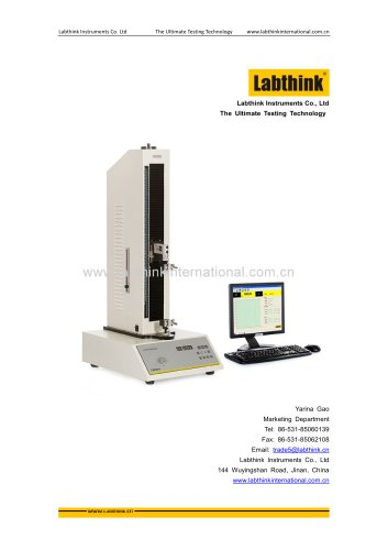 Labthink Seal Strength Tester to measure heat seal strength of PET film and laminates