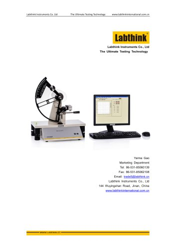 Labthink SLY-S1 Elmendorf Tear Tester to measure tear resistance of thin polymeric film