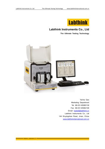 Labthink water Vapor permeability tester for water vapor transmission rate measurement of thin polymeric film