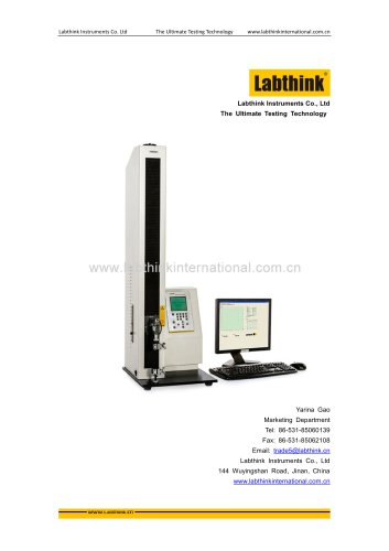 Labthink XLW(PC) Tensile Tester can be used as Peel Resistance testing instrument