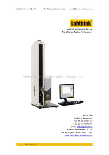 Labthink XLW Series Testing Machine for Tensile Strength, Elongation, Tear, Peel Strength of Cosmetics Packaging