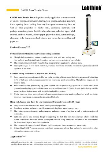 Mask Head Harness Tensile Robust Test Instrument