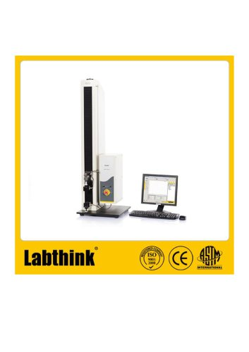 Tensile Tester for both compression and tensile, with loads typically 500N.
