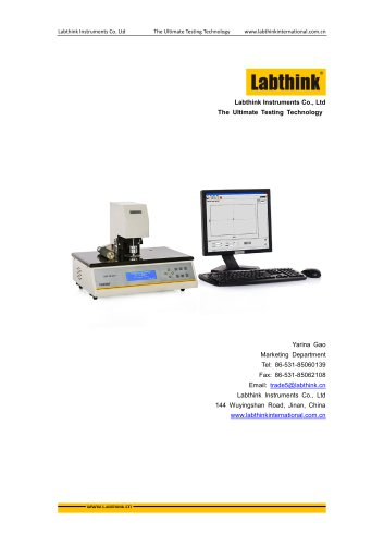 thickness measuring system To measure the thickness or caliper of paper sheets, films and foils.