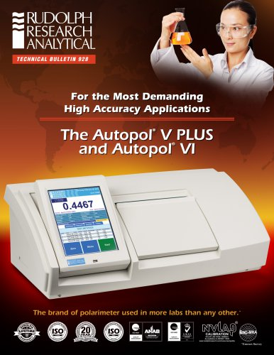 The Autopol®  V PLUS and Autopol®  VI