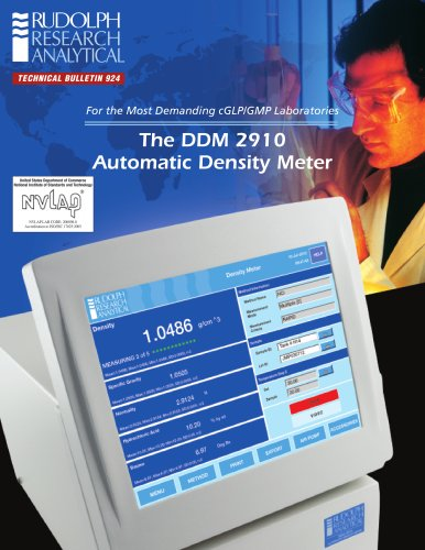 The DDM 2910 Automatic Density Meter
