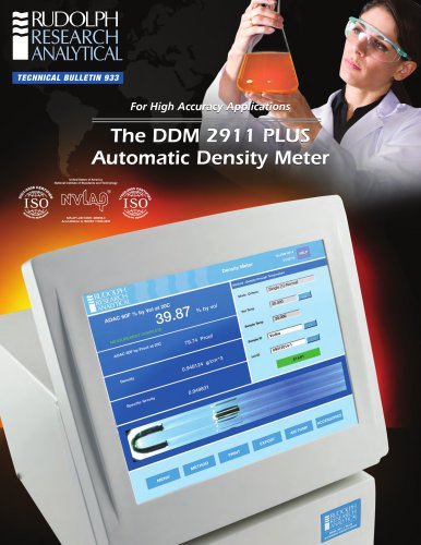 The DDM 2911 PLUS Automatic Density Meter