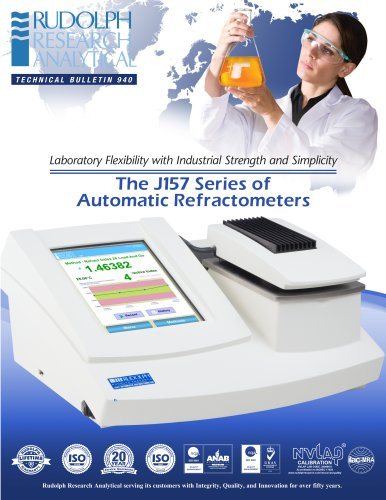 J157 Series of Automatic Refractometers