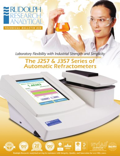 J257 & J357 Series of Automatic Refractometers
