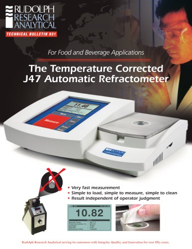 J47 Refractometer for the Sugar and Food Industry