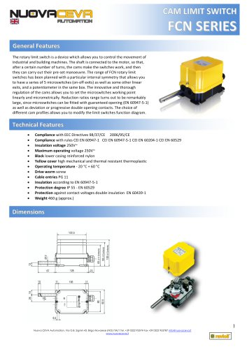 FCN rotary limit switch