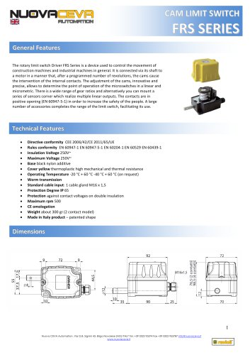 FRS rotary limit switch