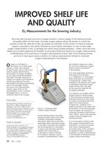 O2 Measurements for the brewing industry - 2