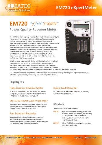 EM720 eXpertmeter Datasheet