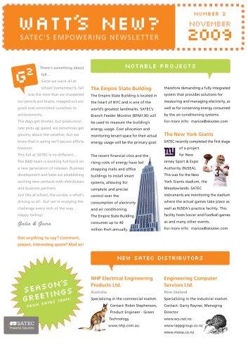 SATEC Newsletter November 2009