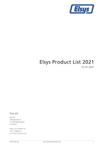 Elsys Product Overview