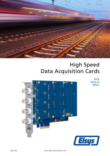 High Speed Data Acquisition Cards