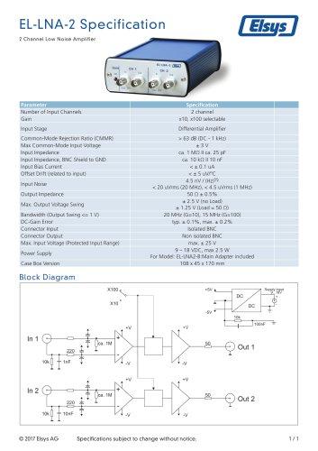 Low Noise Amplifier EL-LNA-2