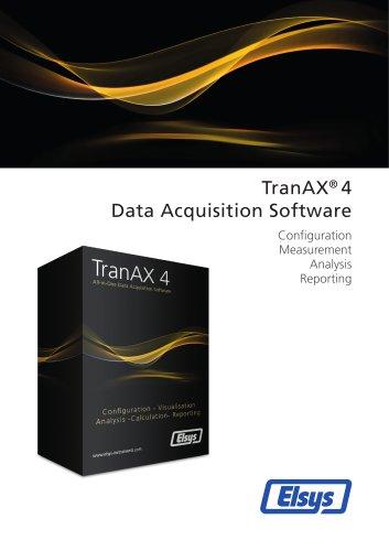 TranAX 4 Data Acquisition Software