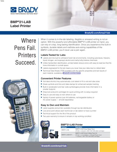 BMP®21-LAB Label Printer