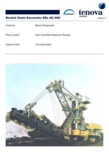 Bucket Chain Excavator  ERs (K) 800