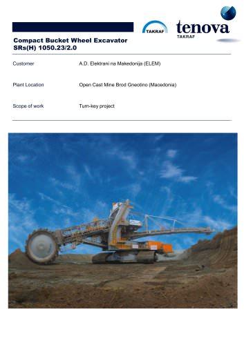 Compact Bucket Wheel Excavator SRs (H) 1050
