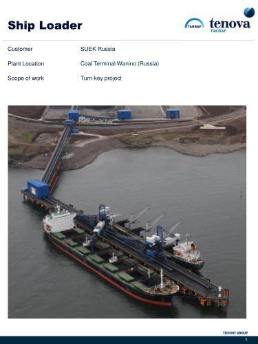 Ship Loader Coal Terminal Wanino (Russia)