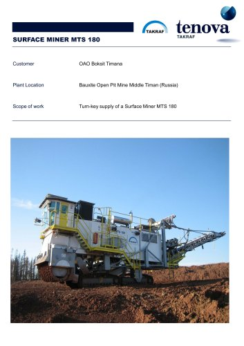 Surface Miner  MTS 180