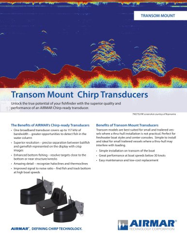 Transom Mount Chirp Transducers