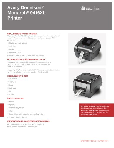 Avery Dennison®Monarch® 9416XLPrinter
