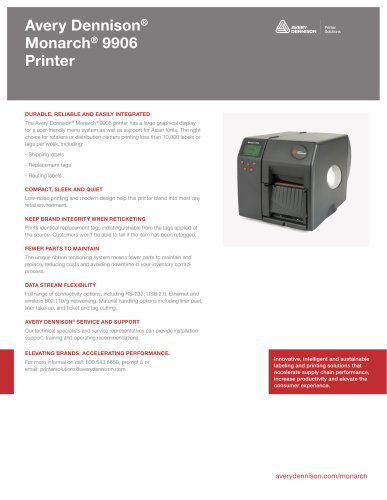Avery Dennison® Monarch® 9906 Printer