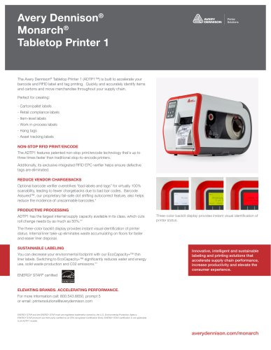 Avery Dennison® Monarch® Tabletop Printer 1