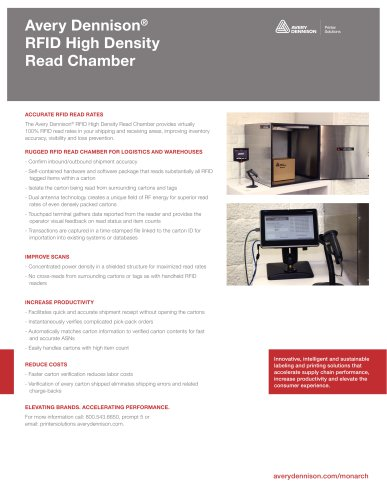 Avery Dennison® RFID High Density Read Chamber