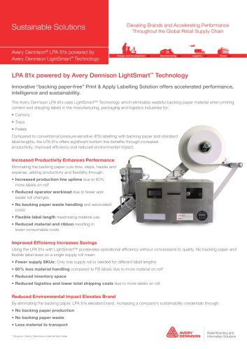 LPA 814 powered by Avery Dennison LightSmart? Technology