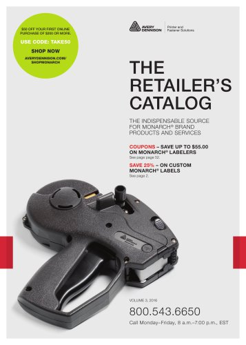 THE RETAILER'S CATALOG SEPT 2016