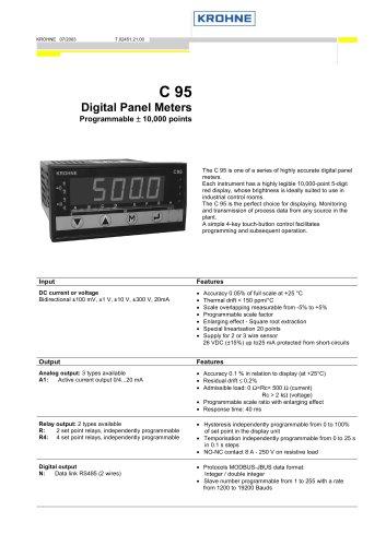 C95 Digital Panel Meter