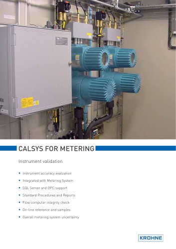 CALSYS for metering