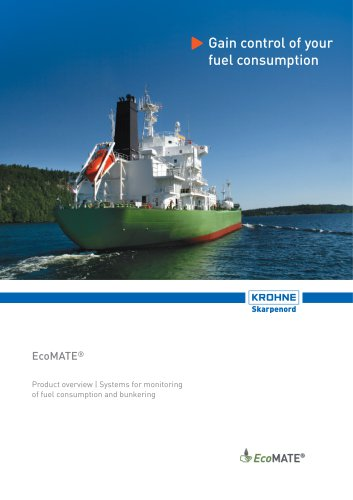 EcoMATE Fuel consumption & bunkering monitoring Overview