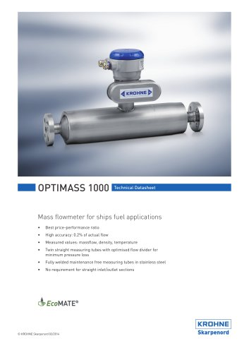 OPTIMASS 1000 Marine