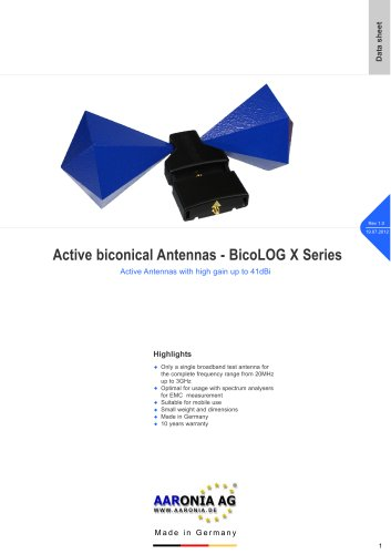 Active Biconical Antenna