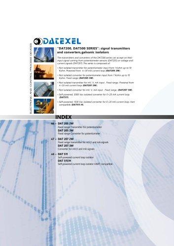 Datexel CATALOGO DAT200-500 SERIES_ING