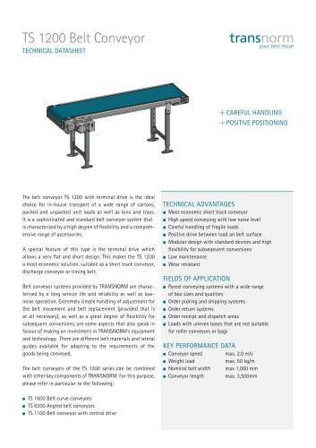 Belt Conveyor TS 1200
