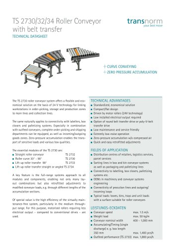 Roller Conveyor TS 2730/32/34