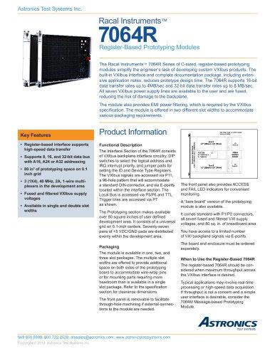 7064R, Register-Based Prototyping Module